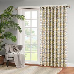 Madison Park 1-Panel Stetsen Diamond Printed Patio Curtain