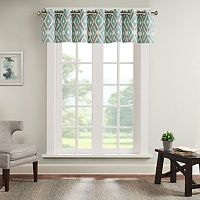 Madison Park Stetsen Diamond Printed Window Valance - 50'' x 18''