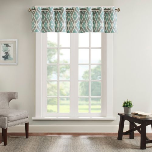 Madison Park Stetsen Diamond Printed Valance - 50'' x 18''