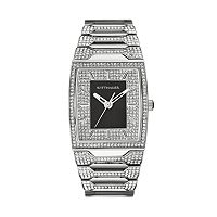 Wittnauer Men's Crystal Stainless Steel Watch