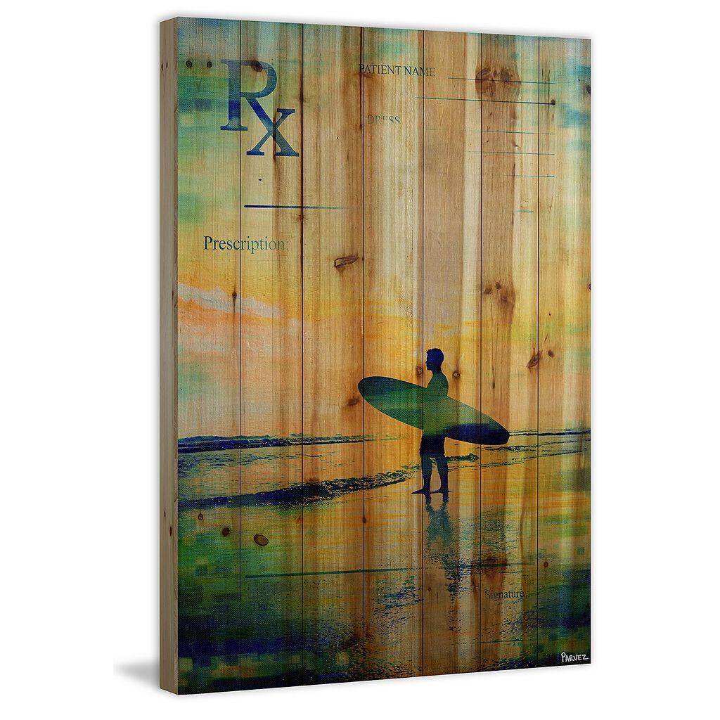 Parvez Taj ''RX Surf'' Wood Wall Art
