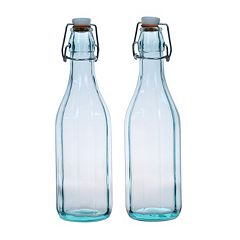 Global Amici 2-pc. Faceted Hermetic Bottle Set