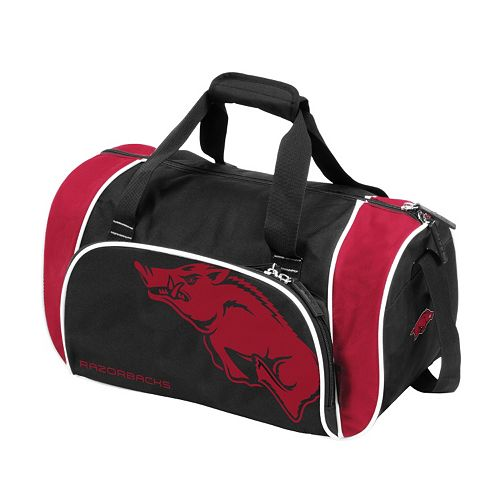 Logo Brand Arkansas Razorbacks Locker Duffel Bag