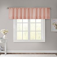 Madison Park Kylie Horizontal Ruffle Window Valance - 50'' x 18''