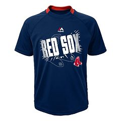 Boys 4-7 Majestic Boston Red Sox 100-MPH Cool Base Pieced Top