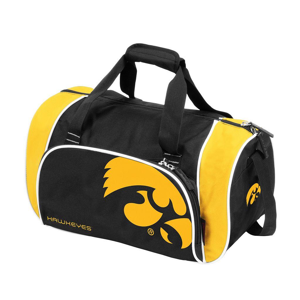 Logo Brand Iowa Hawkeyes Locker Duffel Bag