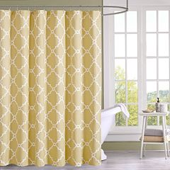 Madison Park Westmont Shower Curtain Seafoam Yellow Gray Beige