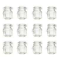 Global Amici 12-pc. Hexagonal Hermetic Spice Jar Set