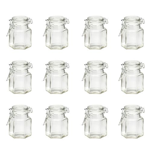 Global Amici 12-pc. Hexagonal Hermetic Spice Jar Set