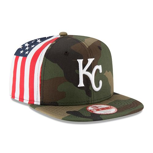 Adult New Era Kansas City Royals Flag Side 9FIFTY Snapback Cap
