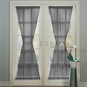 No918 Emily Sheer Voile Single Door Curtain Panel & Tieback