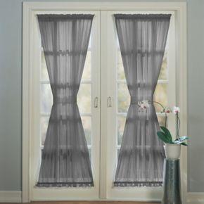 No918 Emily Sheer Voile Single Door Curtain Panel & Tieback