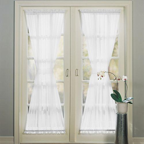 No 918 1-Panel Emily Sheer Voile Single Door Curtain Panel & Tieback
