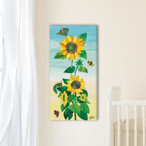 """Marmont Hill Eric Carle """"Sunflower and Bugs 2"""" Canvas Wall Decor"""