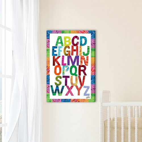 Marmont Hill Eric Carle Alphabet Letters Canvas Wall Art