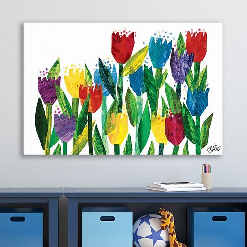 Marmont Hill Eric Carle Tulips Canvas Wall Art