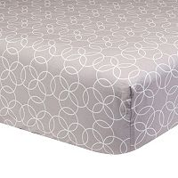 Trend Lab Circles Gray Fitted Crib Sheet