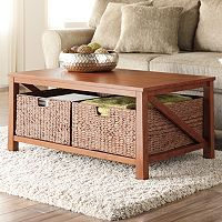 Sonama Goods for Life Cameron Coffee Table (Hazelnut/ Antique White) + $30 Kohls Cash
