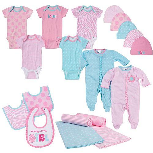 240d6915c684 Newborn Baby Girl Gerber Onesie, Layette & Accessory 19-pc. Set