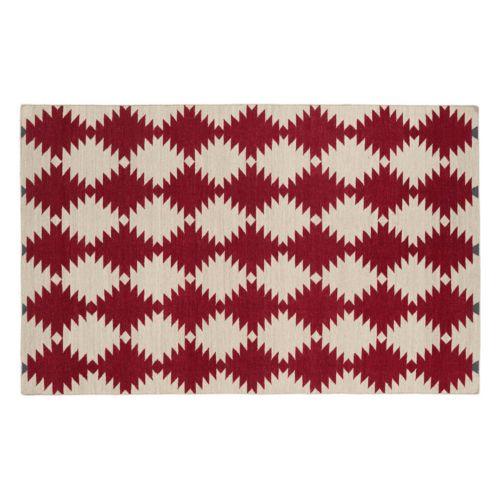 Kaleen Nomad Geronimo Geometric Reversible Wool Rug – 9′ x 12′