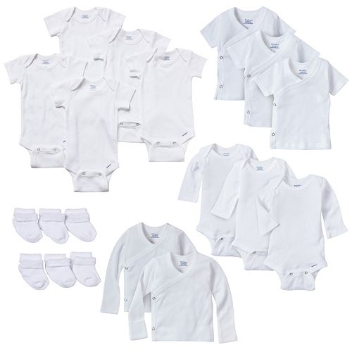 aee37999f Newborn Baby Gerber Onesie, Kimono Top & Sock 19-pc. Set