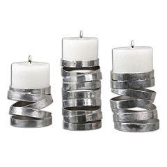 Tamaki 3 pc Candle Holder Set