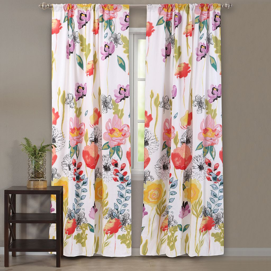 Watercolor Dream 2-pack Curtains