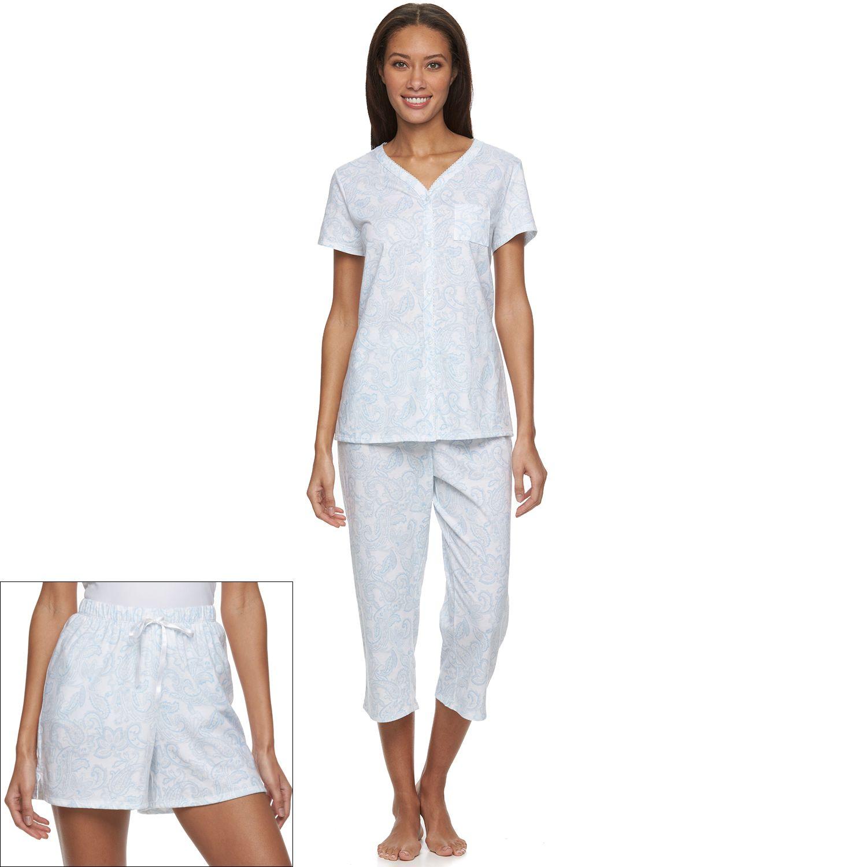 Womens Croft & Barrow? Pajamas: 3-piece Pajama Set