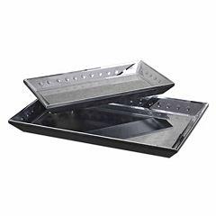 Alanna Mirrored Tray 2 pc Set