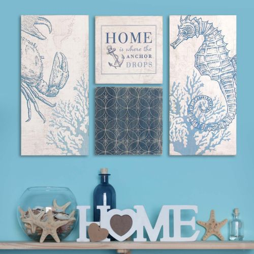 Stratton Home Decor Coastal Wall Art 4-piece Set