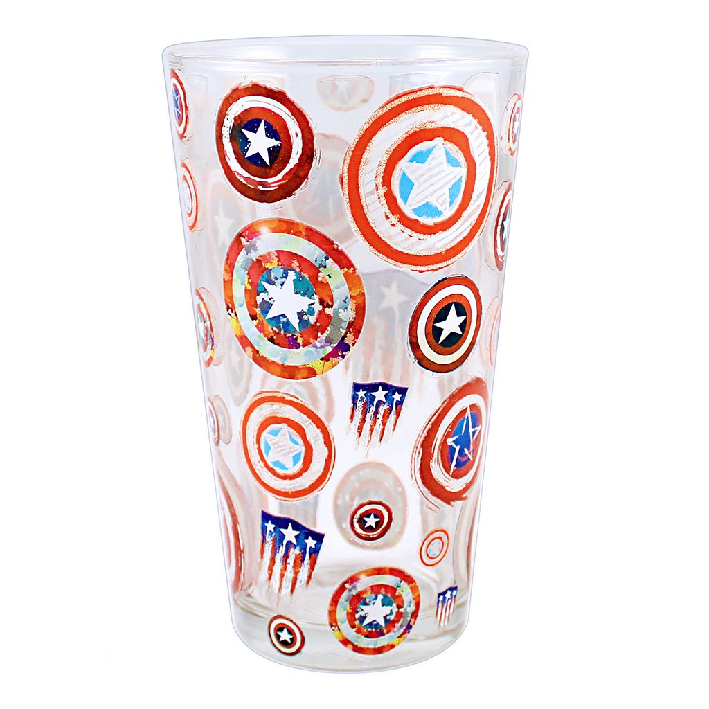 Marvel Captain America 75th Anniversary Shield Pint Glass