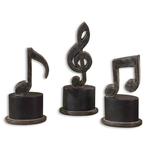 Music Notes Statue Table Decor...