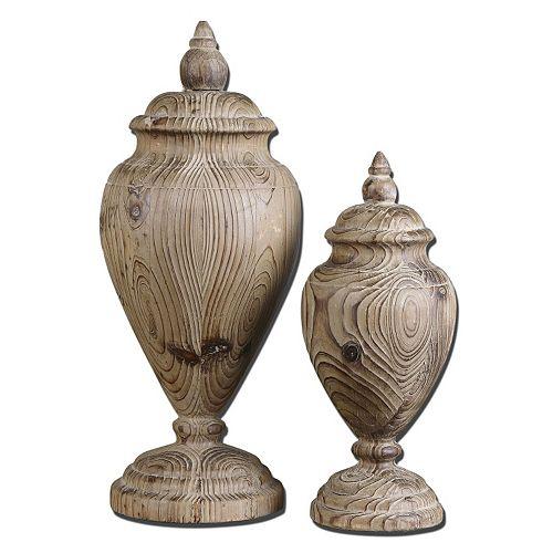 Brisco Wood Finial 2-piece Set