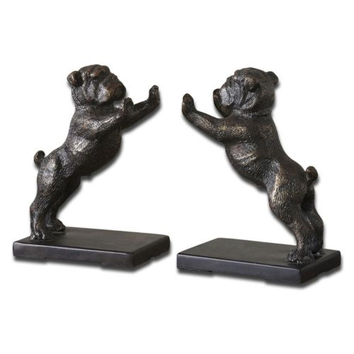 Bulldog Bookend 2-piece Set