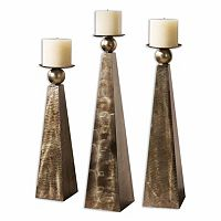 Cesano Candle Holder 3 pc Set