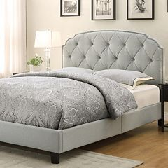 Queen Upholstered Bed Frame & Headboard