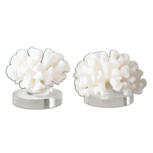 Hard Coral Table Decor 2-piece Set