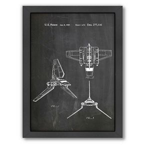 Americanflat Star Wars Empirial Shuttle Framed Wall Art