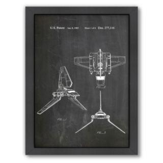 Americanflat Star Wars Empirial Shuttle Framed Wall Art