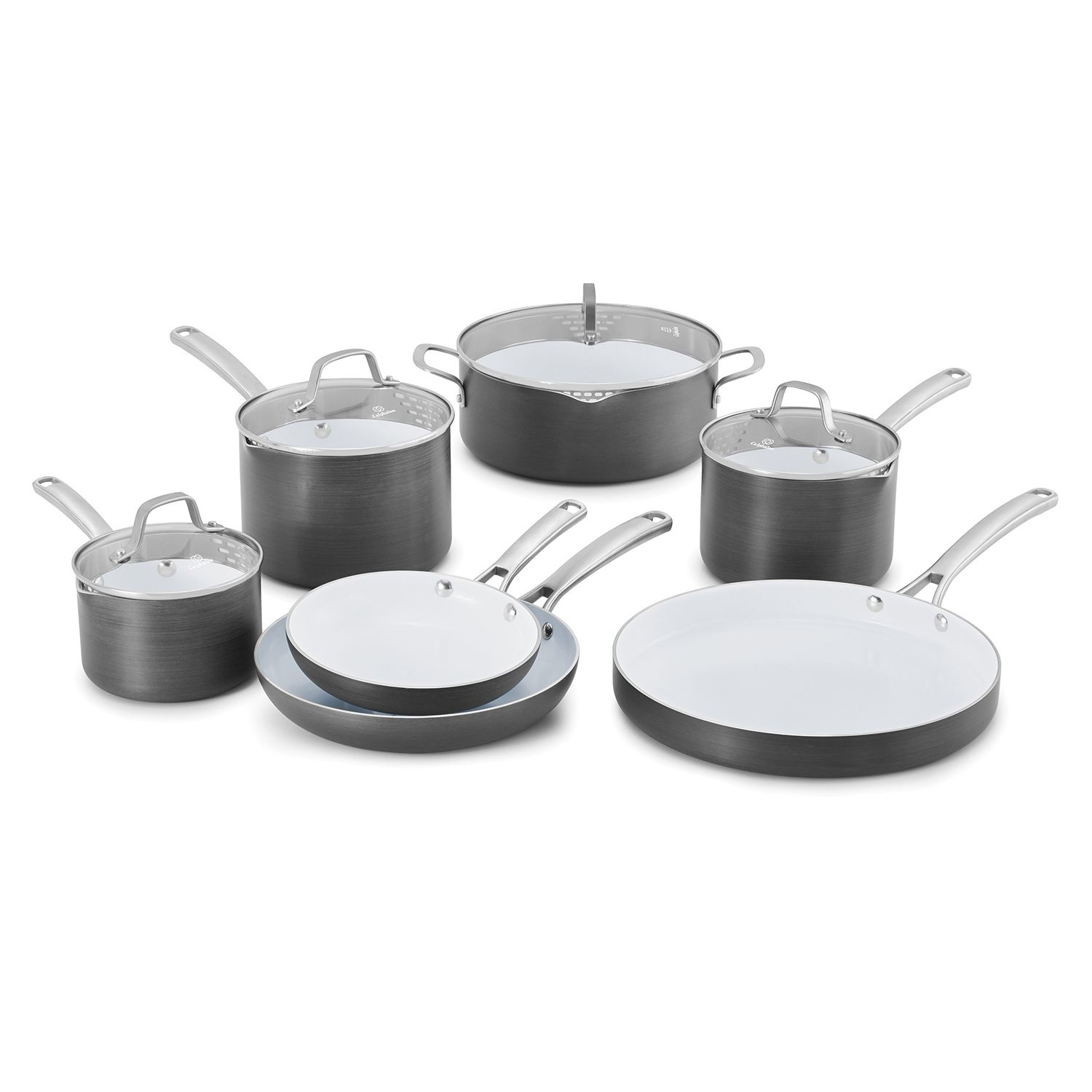 calphalon classic 11pc ceramic cookware set