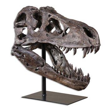 Tyrannosaurus Skull Table Decor
