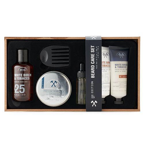 Tri Coastal Design White Birch Tobacco Beard Shaving Gift Set