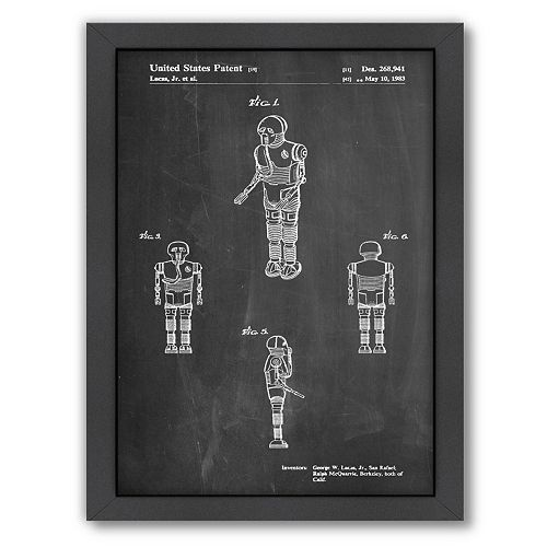 Americanflat Star Wars Droid 1 Framed Wall Art