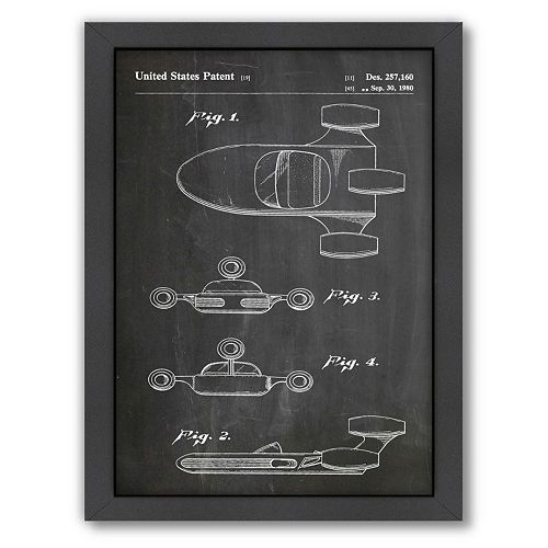 Americanflat Star Wars Landspeeder Framed Wall Art