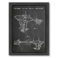 Americanflat Star Wars Rebel Space Vehicle Framed Wall Art