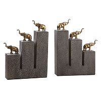 Elephant Bookends Table Décor 2 pc Set