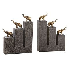 Elephant Bookends Table Décor 2-pc. Set