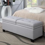 Upholstered Ottoman Storage Bench
