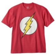 Boys 8-20 DC Comics The Flash Glow-In-The-Dark Logo Tee