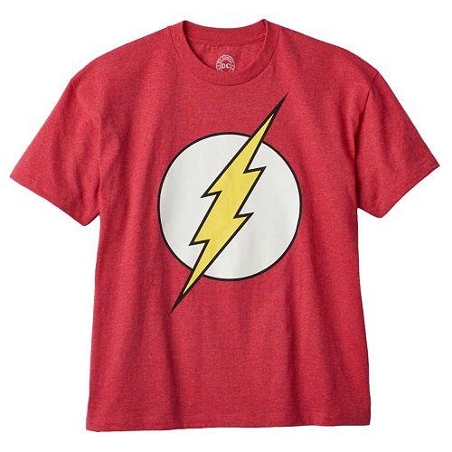 Boys 8-20 DC Comics The Flash Glow-In-The-Dark Logo Tee